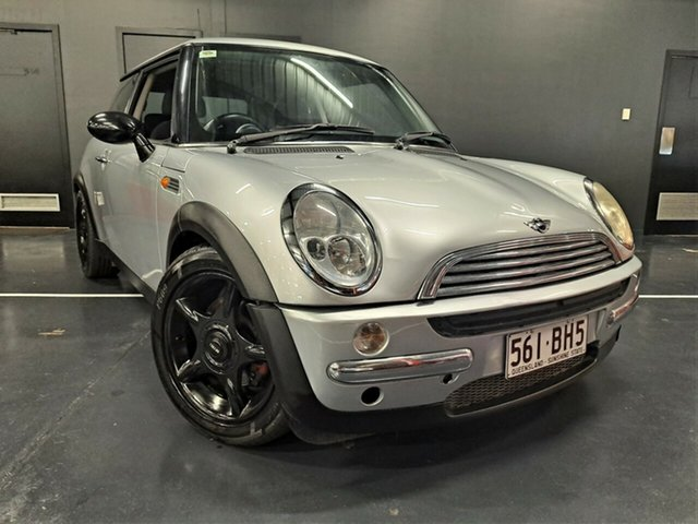 Used Mini Hatch R50 MY03 Cooper Ashmore, 2003 Mini Hatch R50 MY03 Cooper Metallic Silver 6 Speed Constant Variable Hatchback