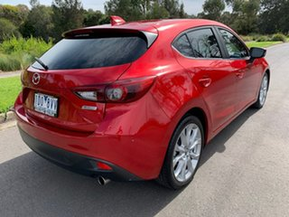 2014 Mazda 3 BM Series SP25 GT Red Sports Automatic Hatchback.