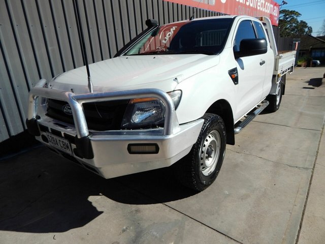 Used Ford Ranger PX XL Blair Athol, 2013 Ford Ranger PX XL White 6 Speed Manual Cab Chassis