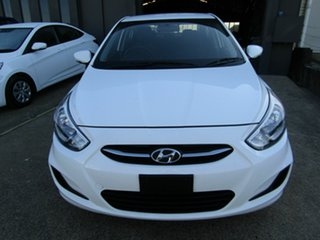 2016 Hyundai Accent RB4 MY17 Active White 6 Speed Constant Variable Sedan