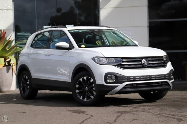 Demo Volkswagen T-Cross C1 MY21 85TSI DSG FWD Life Sutherland, 2021 Volkswagen T-Cross C1 MY21 85TSI DSG FWD Life Pure White 7 Speed Sports Automatic Dual Clutch