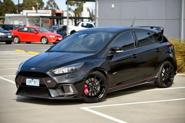 Used Ford Focus LZ RS AWD Pakenham, 2016 Ford Focus LZ RS AWD Black 6 Speed Manual Hatchback