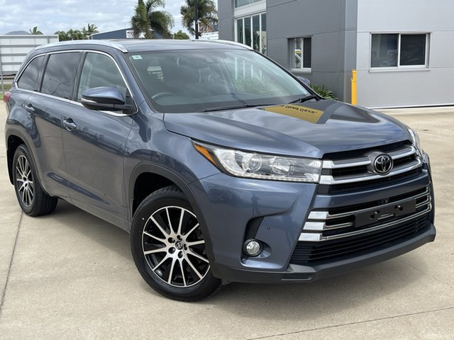Used Toyota Kluger GSU55R Grande AWD Townsville, 2018 Toyota Kluger GSU55R Grande AWD Blue 8 Speed Sports Automatic Wagon