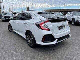 2019 Honda Civic 10th Gen MY19 VTi-LX White 1 Speed Constant Variable Hatchback.