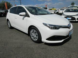 2017 Toyota Corolla ZRE182R Ascent White 6 Speed Constant Variable Hatchback.
