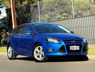 2013 Ford Focus LW MkII Sport Blue 5 Speed Manual Hatchback.