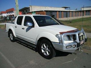 2010 Nissan Navara D40 MY10 ST-X White 5 Speed Automatic Utility.