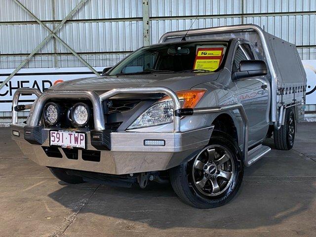 Used Mazda BT-50 UP0YD1 XT 4x2 Rocklea, 2013 Mazda BT-50 UP0YD1 XT 4x2 Silver 6 Speed Manual Cab Chassis