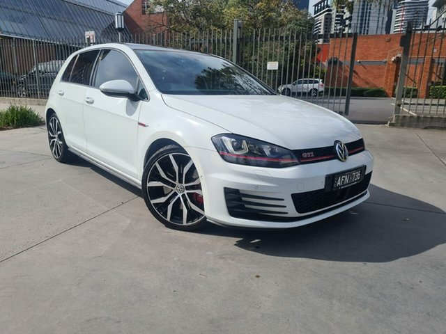 Used Volkswagen Golf VII MY16 GTI DSG Performance South Melbourne, 2015 Volkswagen Golf VII MY16 GTI DSG Performance White 6 Speed Sports Automatic Dual Clutch