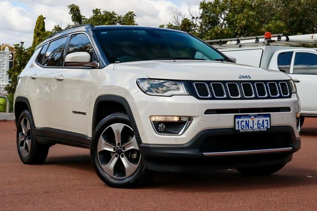 Used Jeep Compass M6 MY18 Limited Cannington, 2018 Jeep Compass M6 MY18 Limited White 9 Speed Automatic Wagon
