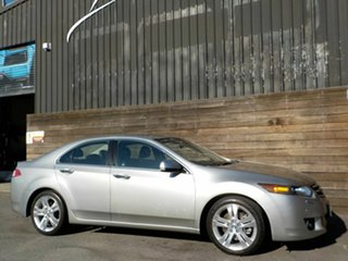 2008 Honda Accord Euro CU Luxury Silver 6 Speed Manual Sedan.