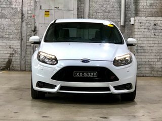 2014 Ford Focus LW MkII ST White 6 Speed Manual Hatchback.