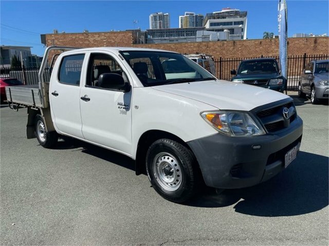Used Toyota Hilux TGN16R 07 Upgrade Workmate Southport, 2007 Toyota Hilux TGN16R 07 Upgrade Workmate White 5 Speed Manual Dual Cab Pick-up
