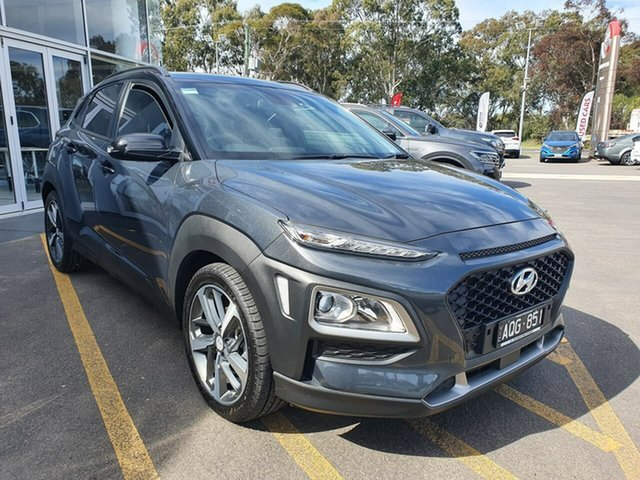 Used Hyundai Kona OS MY18 Launch Edition 2WD Epsom, 2017 Hyundai Kona OS MY18 Launch Edition 2WD Black 6 Speed Sports Automatic Wagon