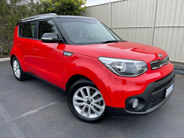 Used Kia Soul PS MY18 SI Devonport, 2018 Kia Soul PS MY18 SI Red 6 Speed Sports Automatic Hatchback