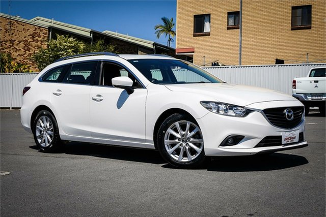 Used Mazda 6 GL1031 Sport SKYACTIV-Drive Moorooka, 2016 Mazda 6 GL1031 Sport SKYACTIV-Drive White 6 Speed Sports Automatic Wagon