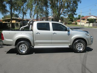 2013 Toyota Hilux KUN26R MY12 SR5 Double Cab Silver 4 Speed Automatic Utility.