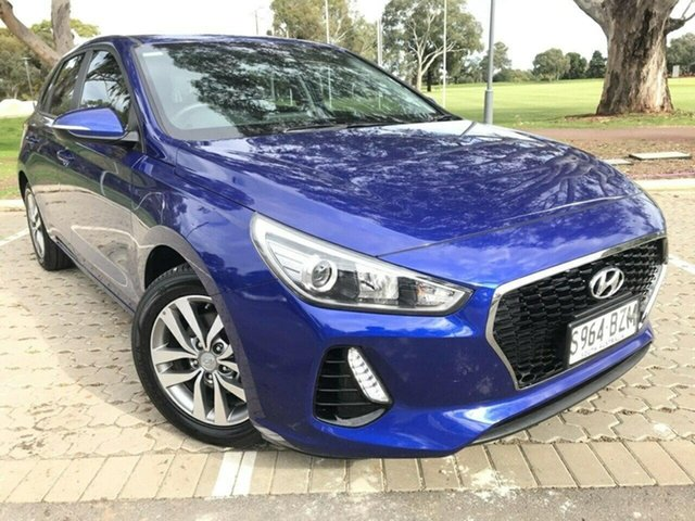 Used Hyundai i30 PD MY18 Active Adelaide, 2018 Hyundai i30 PD MY18 Active Blue 6 Speed Sports Automatic Hatchback