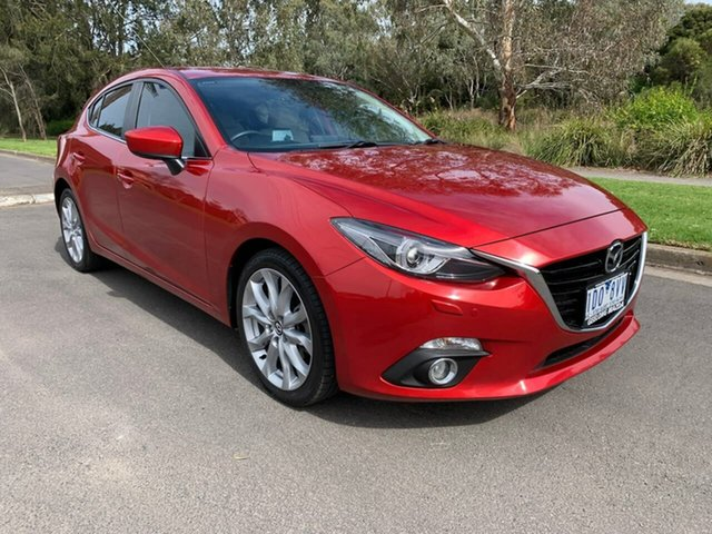 Used Mazda 3 SP25 GT Geelong, 2014 Mazda 3 BM Series SP25 GT Red Sports Automatic Hatchback