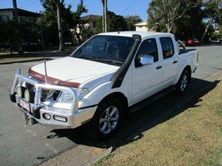 2010 Nissan Navara D40 MY10 ST-X White 5 Speed Automatic Utility
