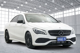 2018 Mercedes-Benz CLA-Class C117 809MY CLA180 DCT White 7 Speed Sports Automatic Dual Clutch Coupe.