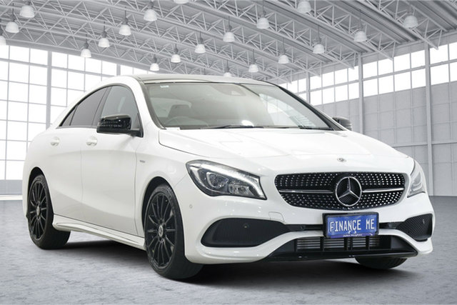 Used Mercedes-Benz CLA-Class C117 809MY CLA180 DCT Victoria Park, 2018 Mercedes-Benz CLA-Class C117 809MY CLA180 DCT White 7 Speed Sports Automatic Dual Clutch Coupe