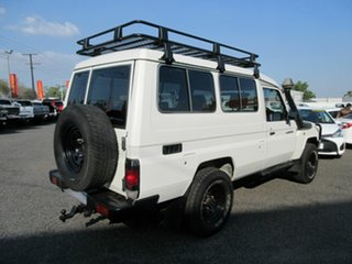 2012 Toyota Landcruiser VDJ78R MY10 Workmate Troopcarrier White 5 Speed Manual Wagon