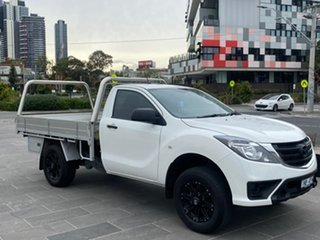 2019 Mazda BT-50 UR0YE1 XT 4x2 Hi-Rider White 6 Speed Sports Automatic Cab Chassis.