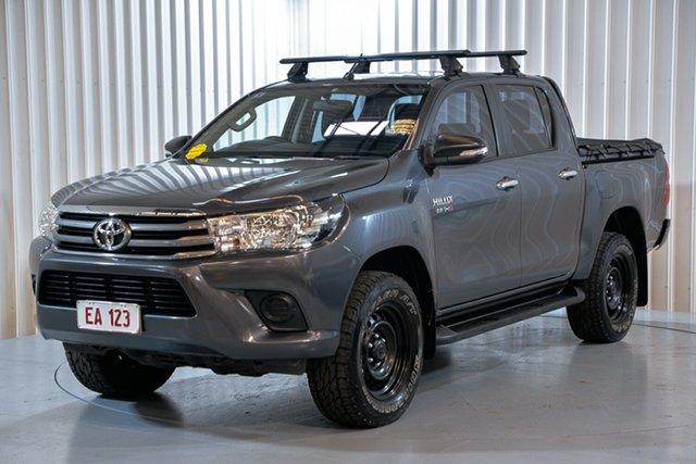 Used Toyota Hilux GUN126R SR (4x4) Hendra, 2016 Toyota Hilux GUN126R SR (4x4) Grey 6 Speed Automatic Dual Cab Utility