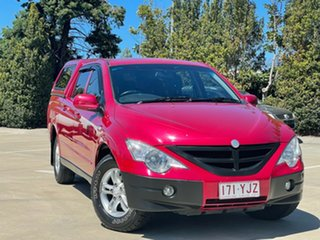 2010 Ssangyong Actyon Sports Q100 MY08 Red 6 Speed Automatic Double Cab Utility.