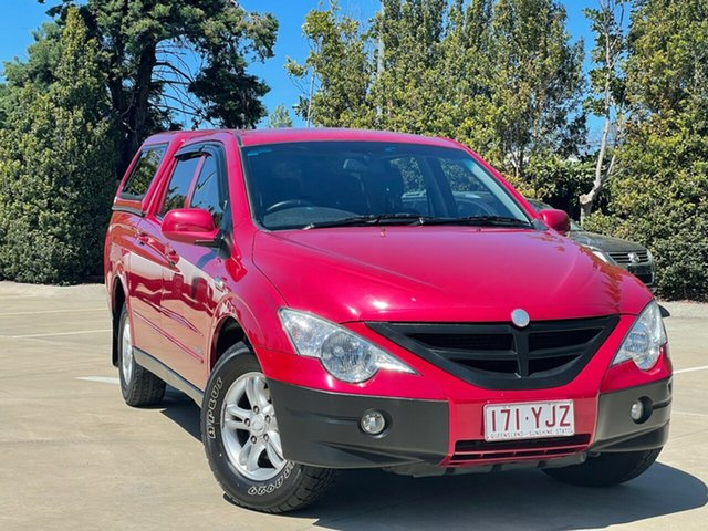 Used Ssangyong Actyon Sports Q100 MY08 Toowoomba, 2010 Ssangyong Actyon Sports Q100 MY08 Red 6 Speed Automatic Double Cab Utility