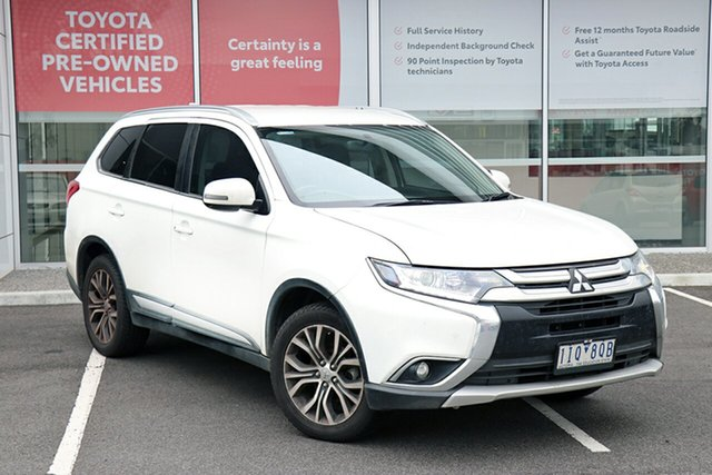 Pre-Owned Mitsubishi Outlander ZK MY16 LS 4WD South Morang, 2016 Mitsubishi Outlander ZK MY16 LS 4WD White 6 Speed Constant Variable Wagon