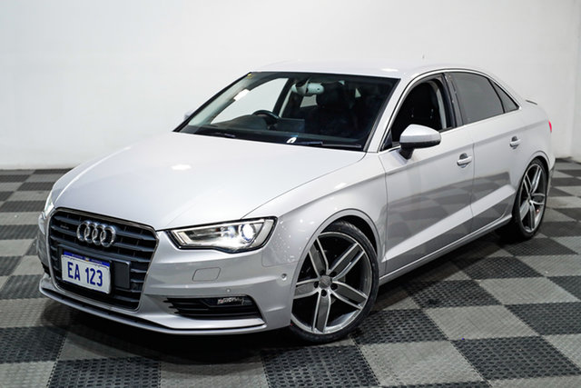 Used Audi A3 8V MY16 Ambition S Tronic Quattro Canning Vale, 2015 Audi A3 8V MY16 Ambition S Tronic Quattro Silver 6 Speed Sports Automatic Dual Clutch Sedan