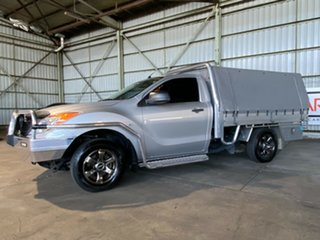 2013 Mazda BT-50 UP0YD1 XT 4x2 Silver 6 Speed Manual Cab Chassis.