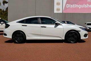 2017 Honda Civic 10th Gen MY17 VTi White 1 Speed Constant Variable Sedan.