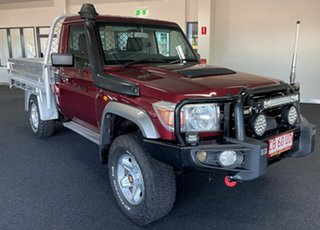 2011 Toyota Landcruiser VDJ79R MY10 GXL Maroon 5 Speed Manual Cab Chassis.