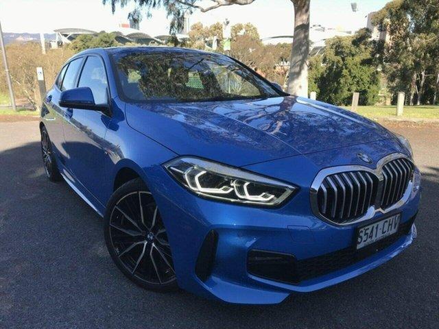 Used BMW 1 Series F40 118i DCT Steptronic M Sport Adelaide, 2020 BMW 1 Series F40 118i DCT Steptronic M Sport Blue 7 Speed Sports Automatic Dual Clutch
