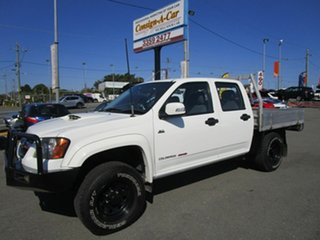 2011 Holden Colorado RC MY11 LX Crew Cab White 5 Speed Manual Cab Chassis.
