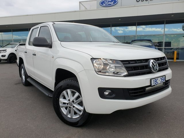 Used Volkswagen Amarok 2H MY16 TDI420 4MOTION Perm Core Essendon Fields, 2015 Volkswagen Amarok 2H MY16 TDI420 4MOTION Perm Core White 8 Speed Automatic Utility