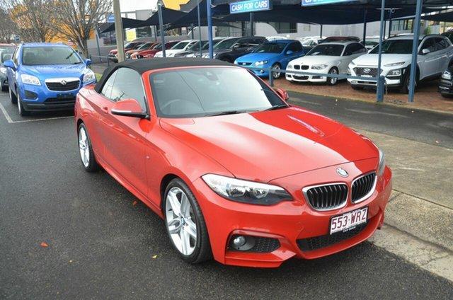 Used BMW 220i F22 M Sport Toowoomba, 2015 BMW 220i F22 M Sport Red 8 Speed Automatic Convertible