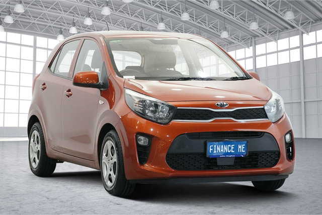 Used Kia Picanto JA MY18 S Victoria Park, 2018 Kia Picanto JA MY18 S Orange 4 Speed Automatic Hatchback