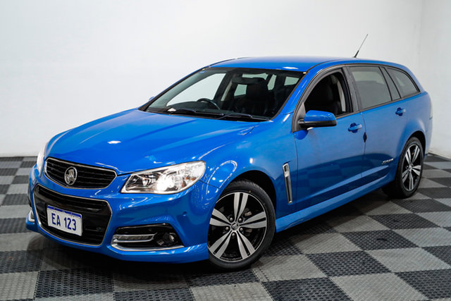 Used Holden Commodore VF MY14 SV6 Sportwagon Storm Canning Vale, 2014 Holden Commodore VF MY14 SV6 Sportwagon Storm Blue 6 Speed Sports Automatic Wagon