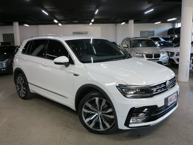 Used Volkswagen Tiguan 5N MY18 140TDI DSG 4MOTION Highline Albion, 2017 Volkswagen Tiguan 5N MY18 140TDI DSG 4MOTION Highline White 7 Speed