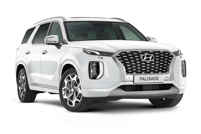 New Hyundai Palisade LX2.V2 MY22 Highlander 2WD Nailsworth, 2021 Hyundai Palisade LX2.V2 MY22 Highlander 2WD White Cream 8 Speed Sports Automatic Wagon