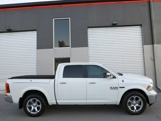 2018 Ram 1500 Laramie Crew Cab SWB White 8 Speed Automatic Utility.