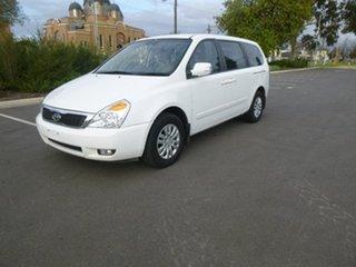 2012 Kia Grand Carnival VQ S White Sports Automatic Wagon