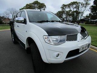 2013 Mitsubishi Triton MN MY12 GLX-R (4x4) White 5 Speed Manual 4x4 Double Cab Utility.