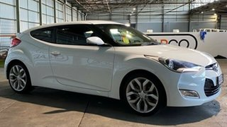 2012 Hyundai Veloster FS + Coupe D-CT White 6 Speed Sports Automatic Dual Clutch Hatchback.