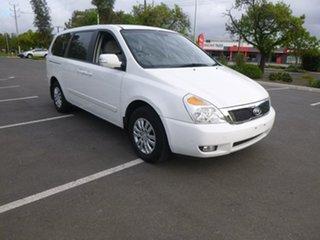 2012 Kia Grand Carnival VQ S White Sports Automatic Wagon.