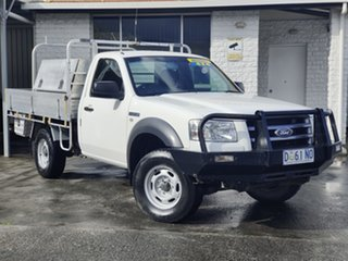 2008 Ford Ranger PJ XL White 5 Speed Automatic Cab Chassis.